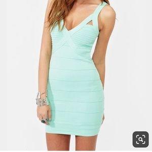 Teal Bandage Dress